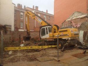 Demolición de vivienda en el casco histórico de Alcobendas
