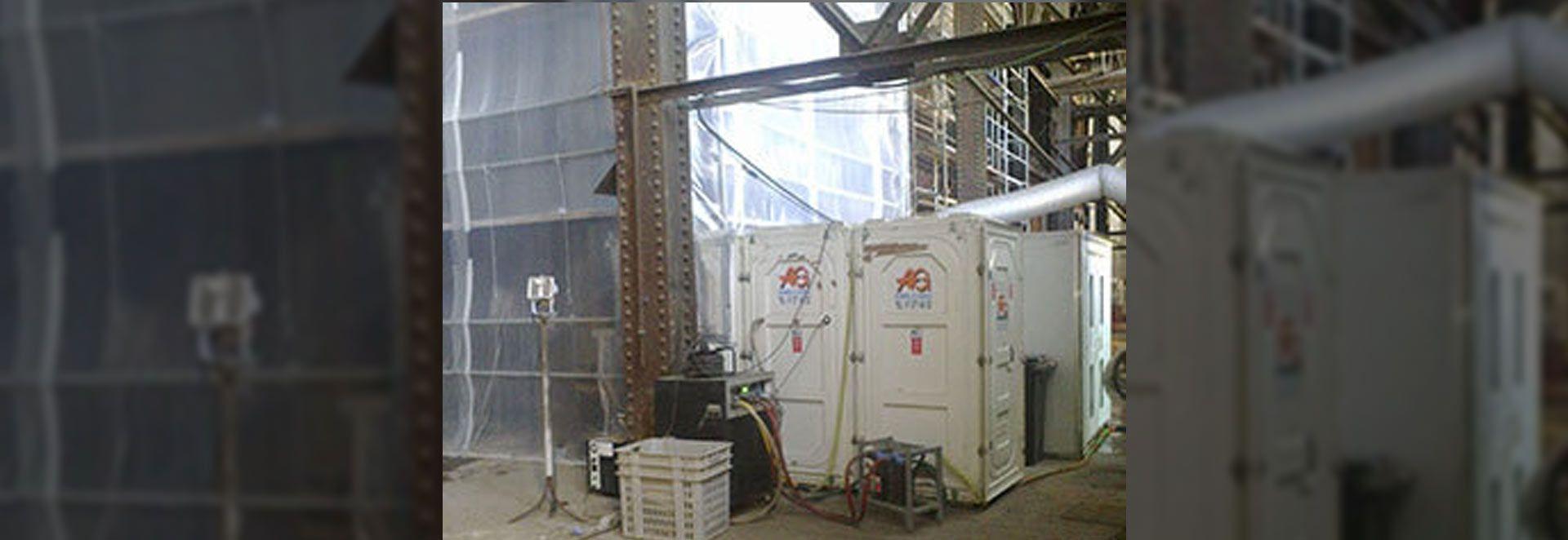Desmontaje de amianto - Cápsula de desamiantado - AG Construcciones