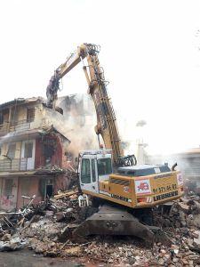 Demolición de edificios en Madrid en el distrito de Latina